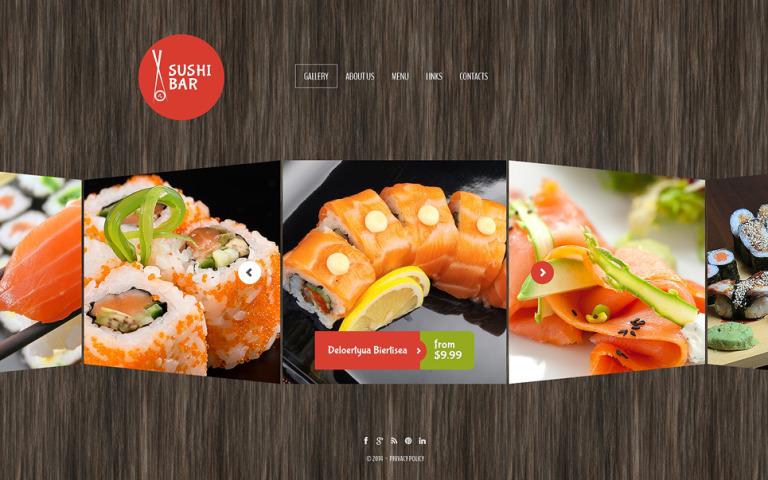 Sushi Bar Website Template New Screenshots BIG
