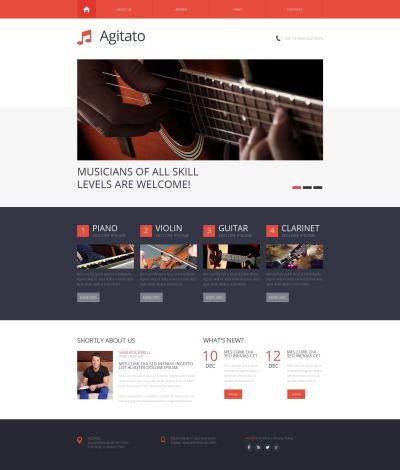 Szablon Moto CMS HTML #50557 na temat: szkoła muzyczna
