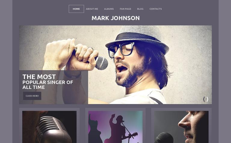 Tema de WordPress #50501 para Sitio de Cantantes