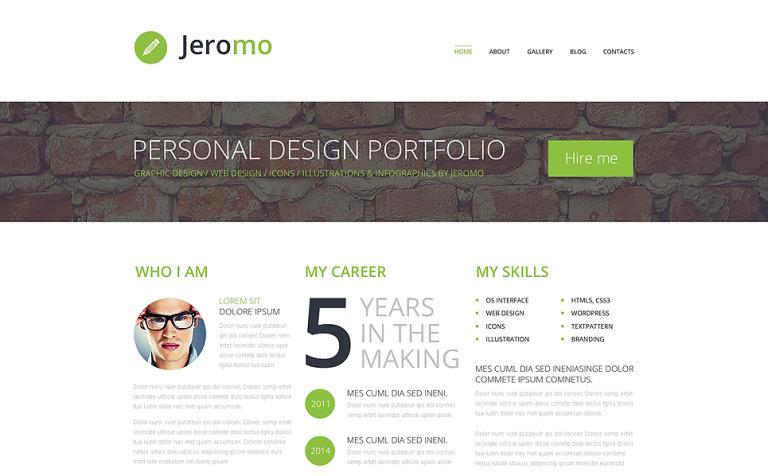 Tema de WordPress #50534 para Sitio de Portafolios de diseñadores