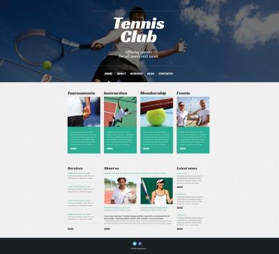 Responsive Tema De WordPress #50527 para Sitio de  para Sitio de Tenis