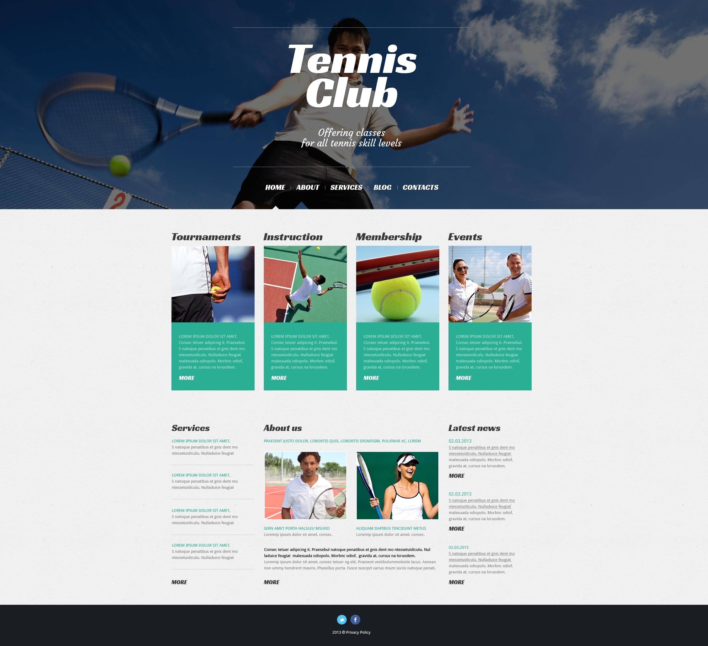 Premium WordPress Tennis Themes | TemplateMonster