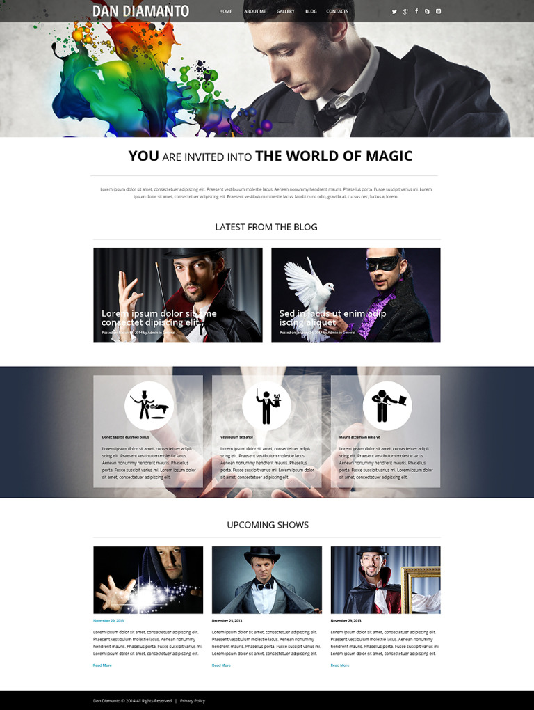 The World of Magic WordPress Theme New Screenshots BIG