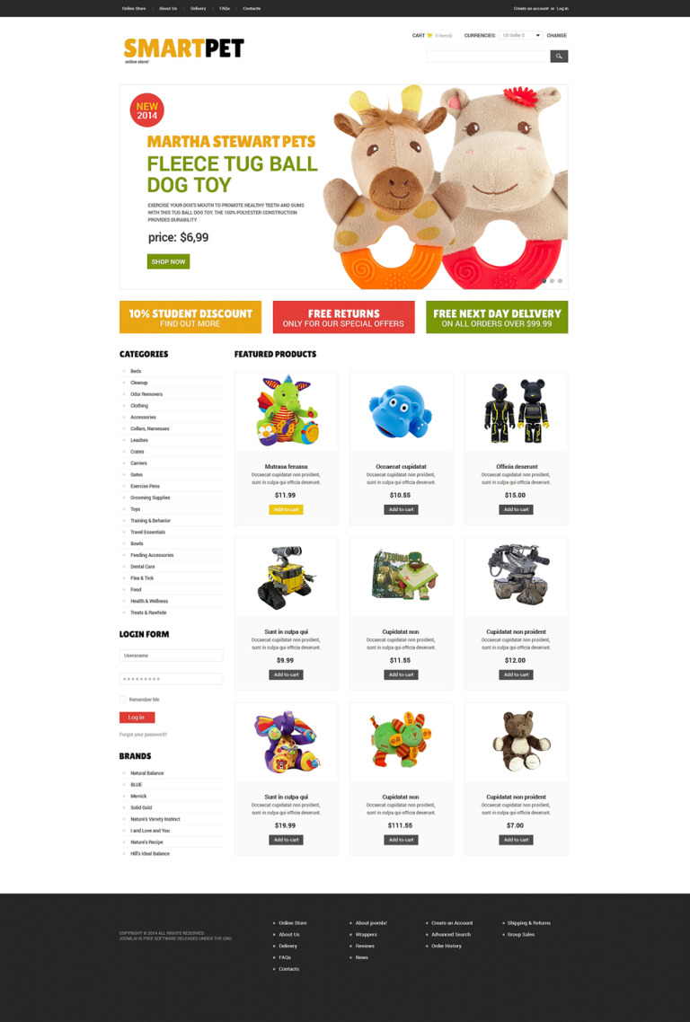 Toy Store VirtueMart Template New Screenshots BIG