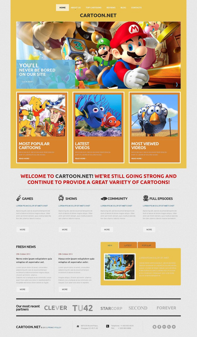 TV Channel Responsive WordPress Theme New Screenshots BIG