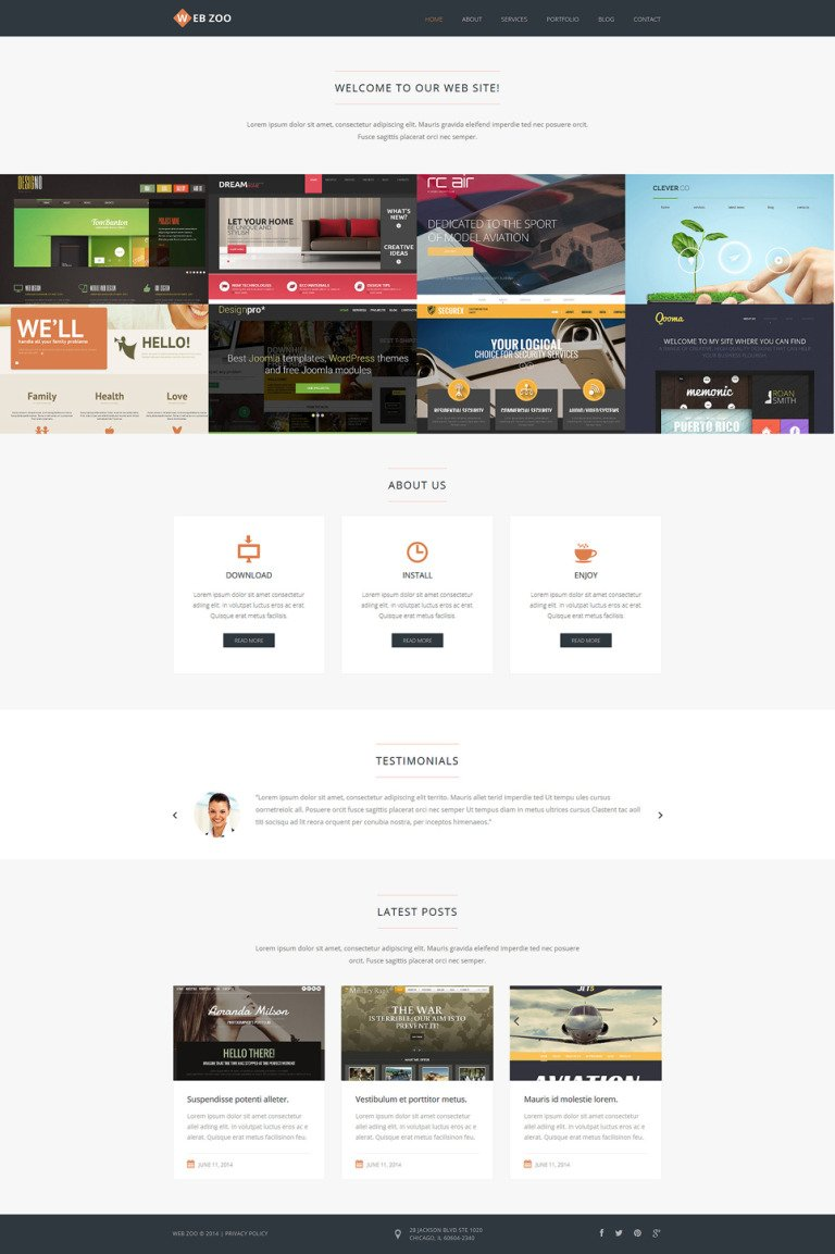 Web Design Services Joomla Template New Screenshots BIG