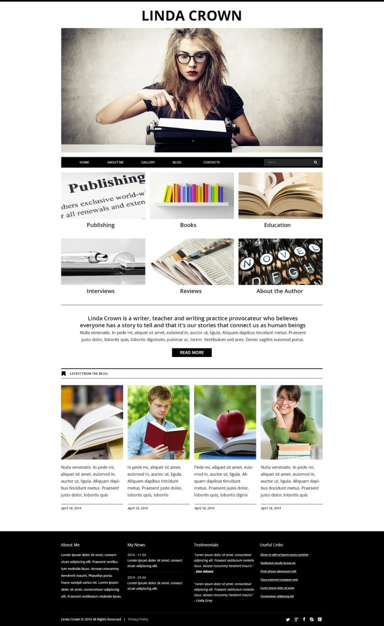 Writer's Page Joomla Template New Screenshots BIG