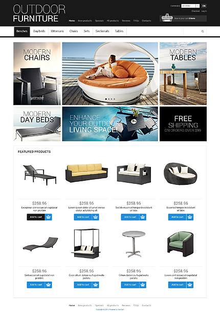 ZenCart Template 50602 Main Page Screenshot