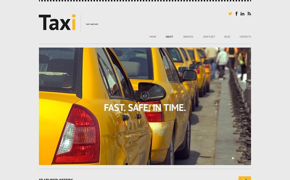 Reszponzív Taxi társaságok WordPress sablon New Screenshots BIG