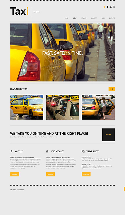 WordPress Theme/Template 50615 Main Page Screenshot
