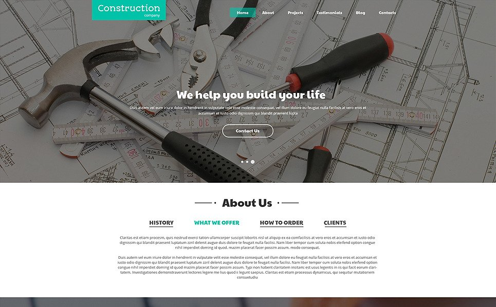Responsive Joomla Template over Bouwbedrijf New Screenshots BIG