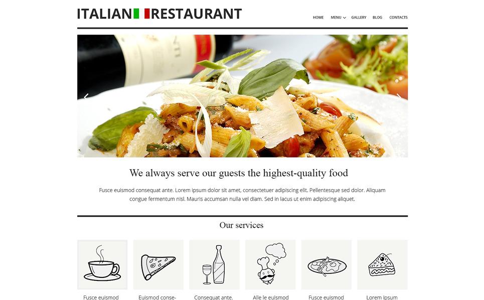 Responsywny szablon Joomla #50621 na temat: restauracja włoska New Screenshots BIG