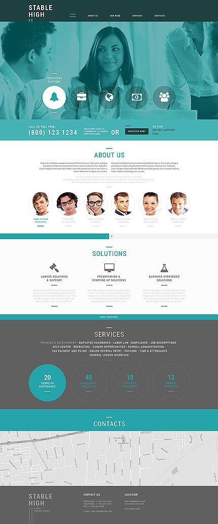 Joomla Theme/Template 50622 Main Page Screenshot