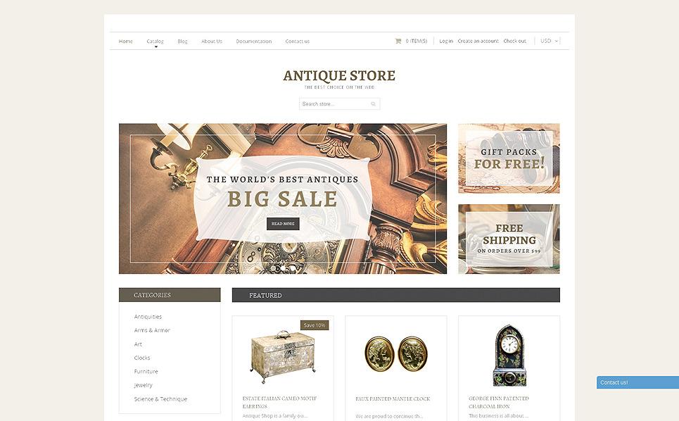 Responzivní Shopify motiv na téma Obchod se starožitnostmi New Screenshots BIG