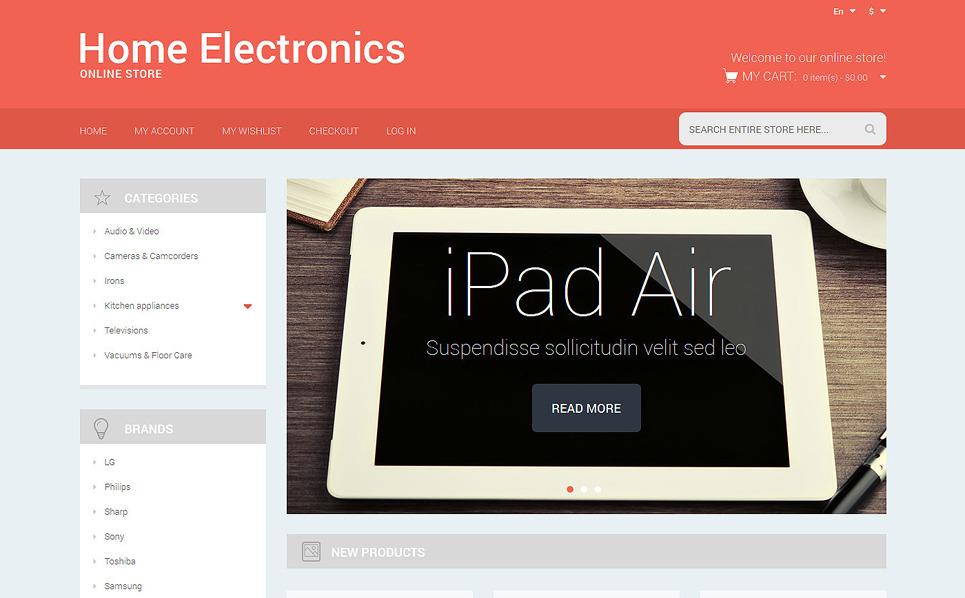 Responzivní Magento motiv na téma Elektronika New Screenshots BIG