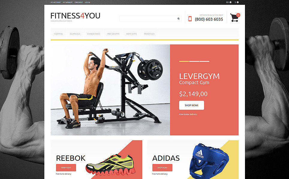 Responsive Fitness  Magento Tema New Screenshots BIG