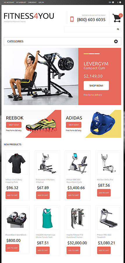 Magento Theme/Template 50629 Main Page Screenshot