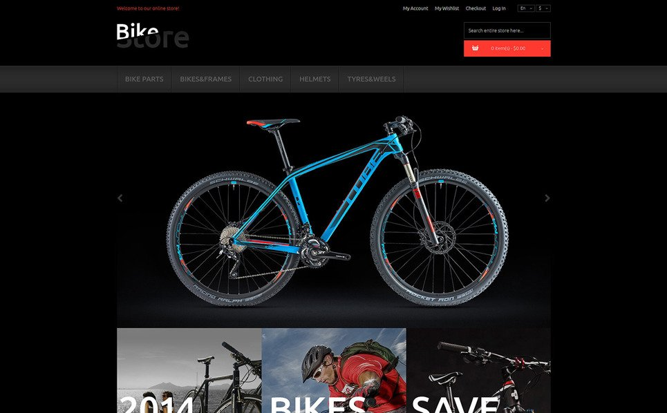 Responsive Magento Thema over Fietsen  New Screenshots BIG
