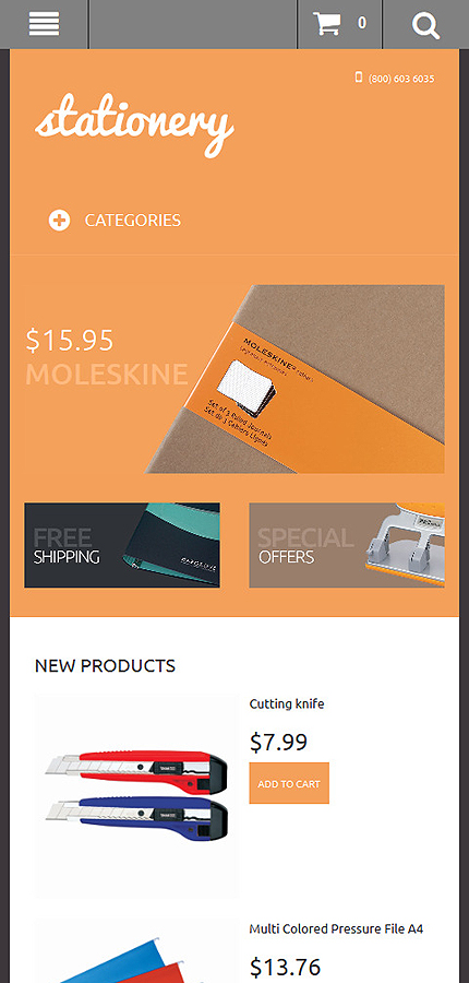 Magento Theme/Template 50633 Main Page Screenshot