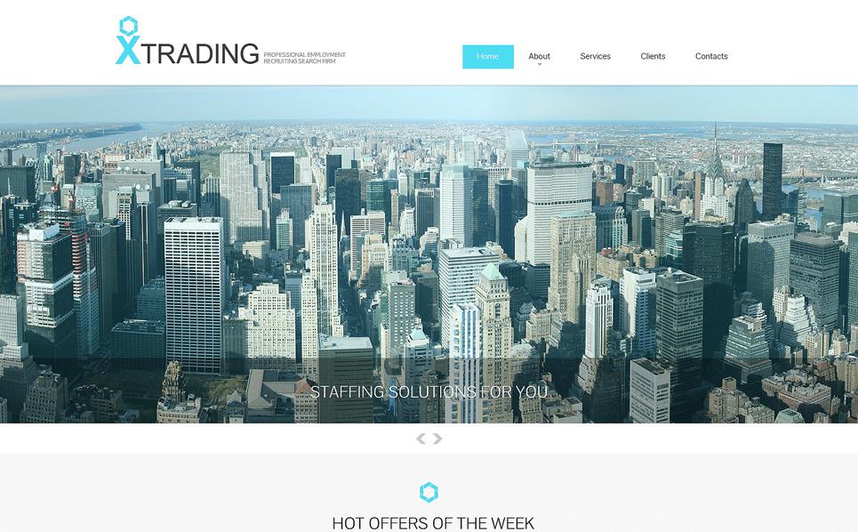 Responsive Website template over Publieke Relaties New Screenshots BIG