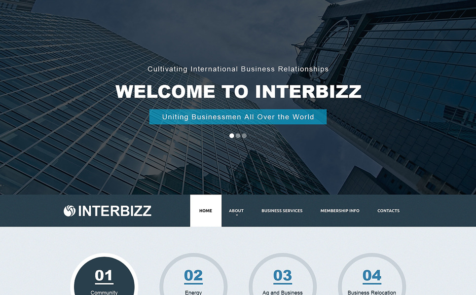 Modello Siti Web Responsive #50636 per Un Sito di Business e Servizi New Screenshots BIG