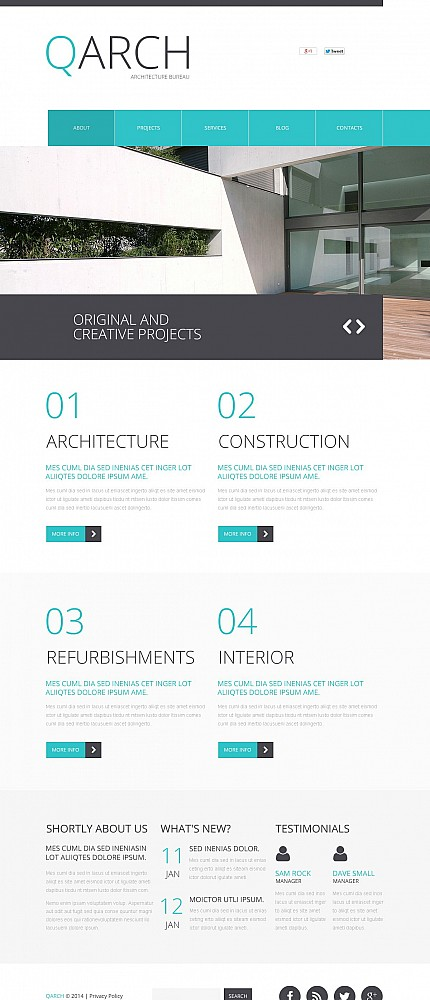 ADOBE Photoshop Template 50641 Home Page Screenshot