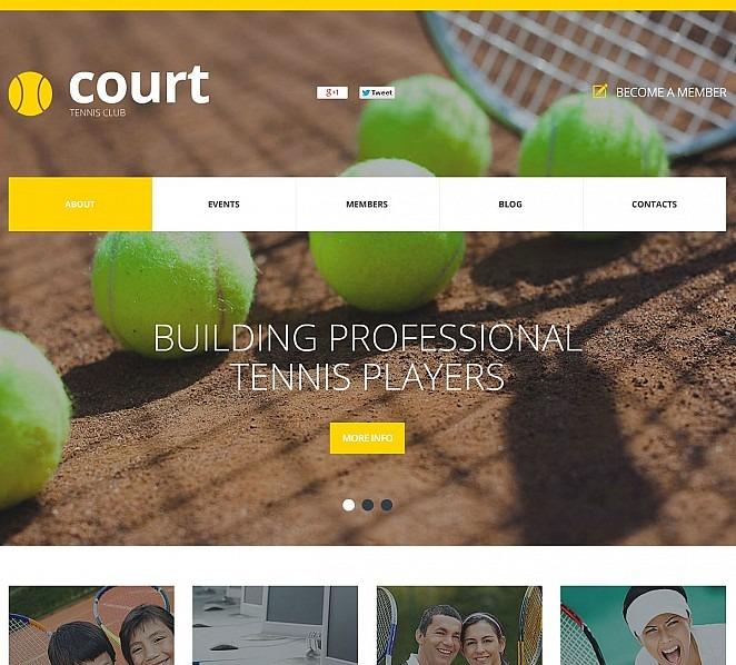 Template Flash CMS  #50644 per Un Sito di Tennis New Screenshots BIG