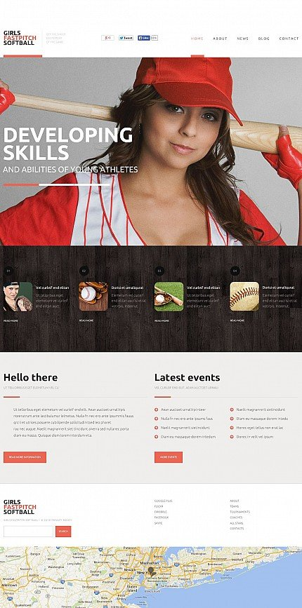 ADOBE Photoshop Template 50647 Home Page Screenshot