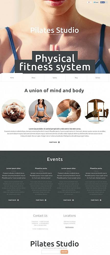 ADOBE Photoshop Template 50648 Home Page Screenshot