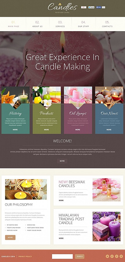 ADOBE Photoshop Template 50650 Home Page Screenshot