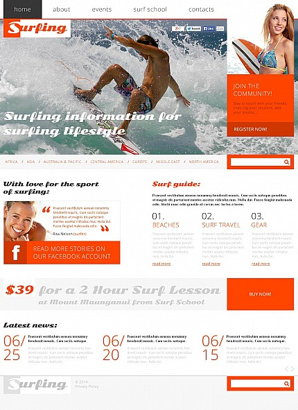 ADOBE Photoshop Template 50651 Home Page Screenshot