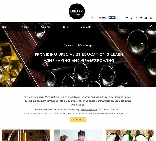 Szablon Flash CMS #50654 na temat: wino New Screenshots BIG
