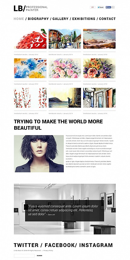 ADOBE Photoshop Template 50655 Home Page Screenshot