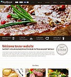 Cafe & Restaurant Flash CMS  Template 50660