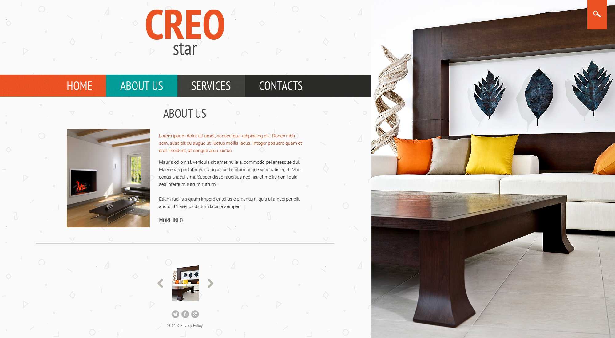 Interior furniture website template 50661 for Interior furniture website