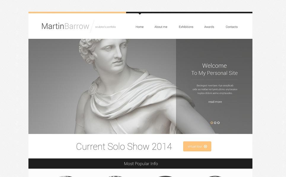 Адаптивний Шаблон сайту на тему скульптура New Screenshots BIG