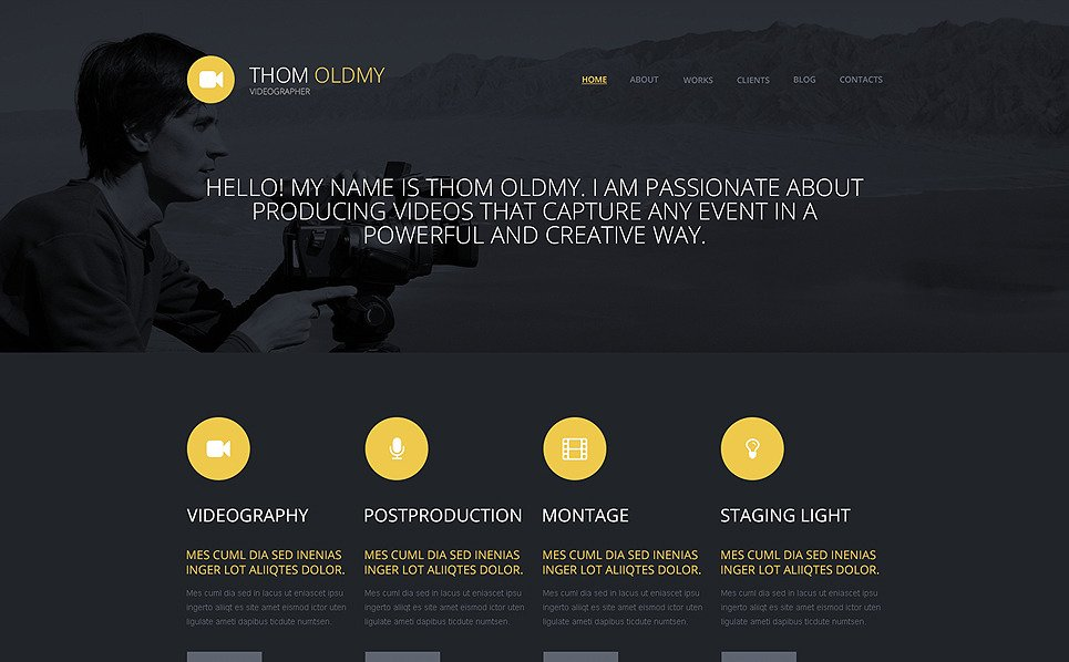 Responsive WordPress thema over Videograaf New Screenshots BIG