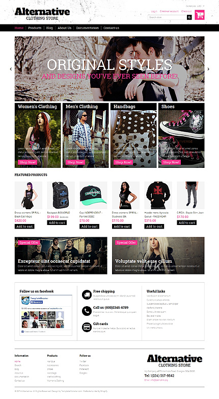ADOBE Photoshop Template 50669 Home Page Screenshot