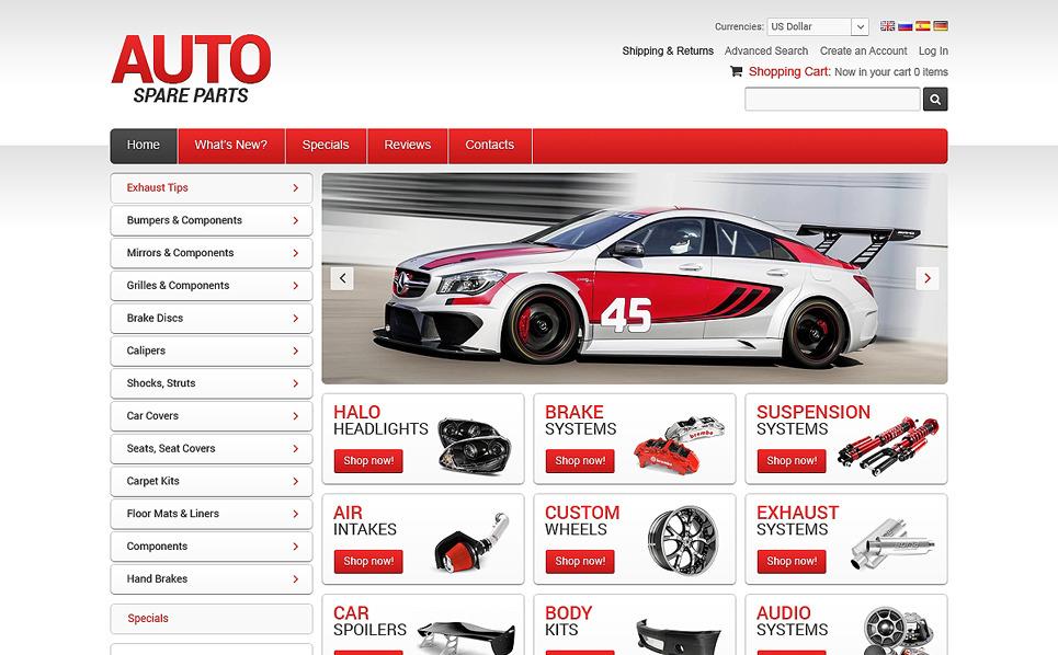 Szablon OsCommerce #50671 na temat: części samochodowe New Screenshots BIG
