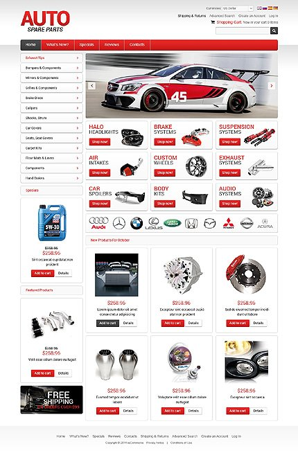 osCommerce Template 50671 Main Page Screenshot