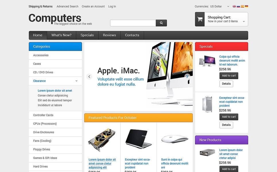 OsCommerce Vorlage für Computergeschäft  New Screenshots BIG