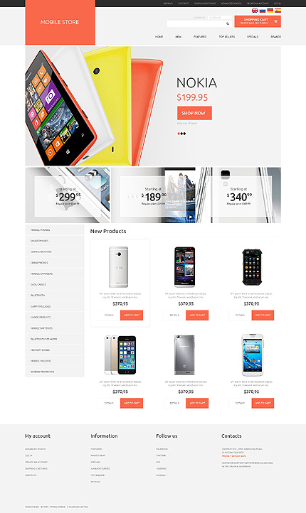 osCommerce Template 50673 Main Page Screenshot