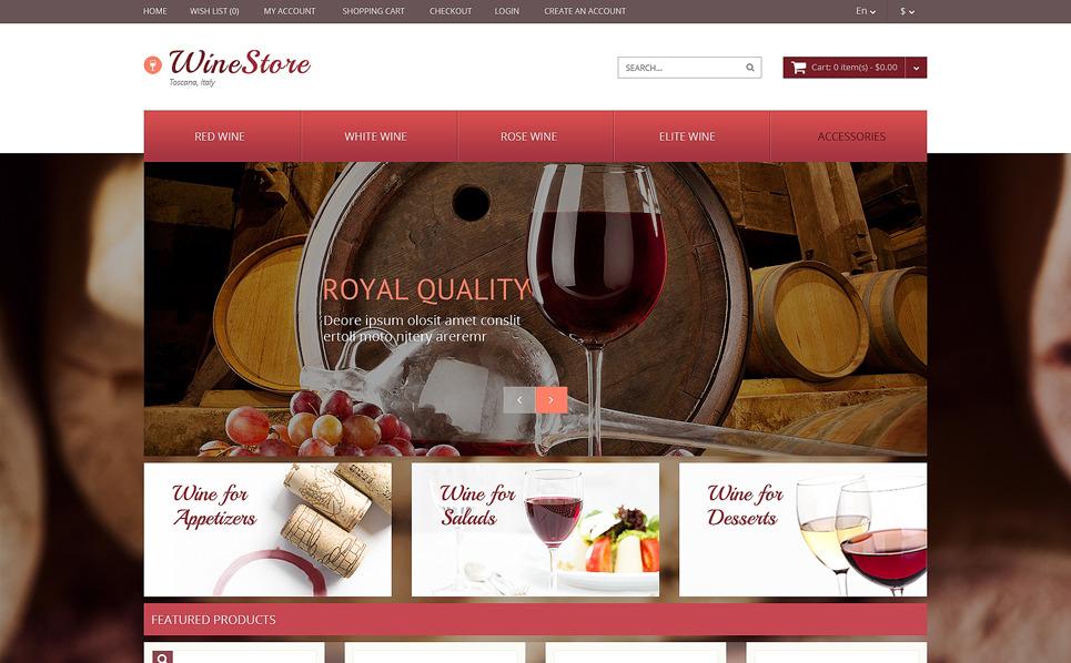 OpenCart Vorlage für Essen und Trinken  New Screenshots BIG