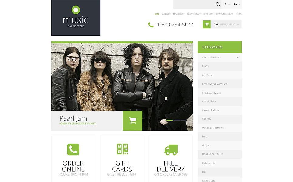 Responsywny szablon OpenCart #50675 na temat: sklep muzyczny New Screenshots BIG