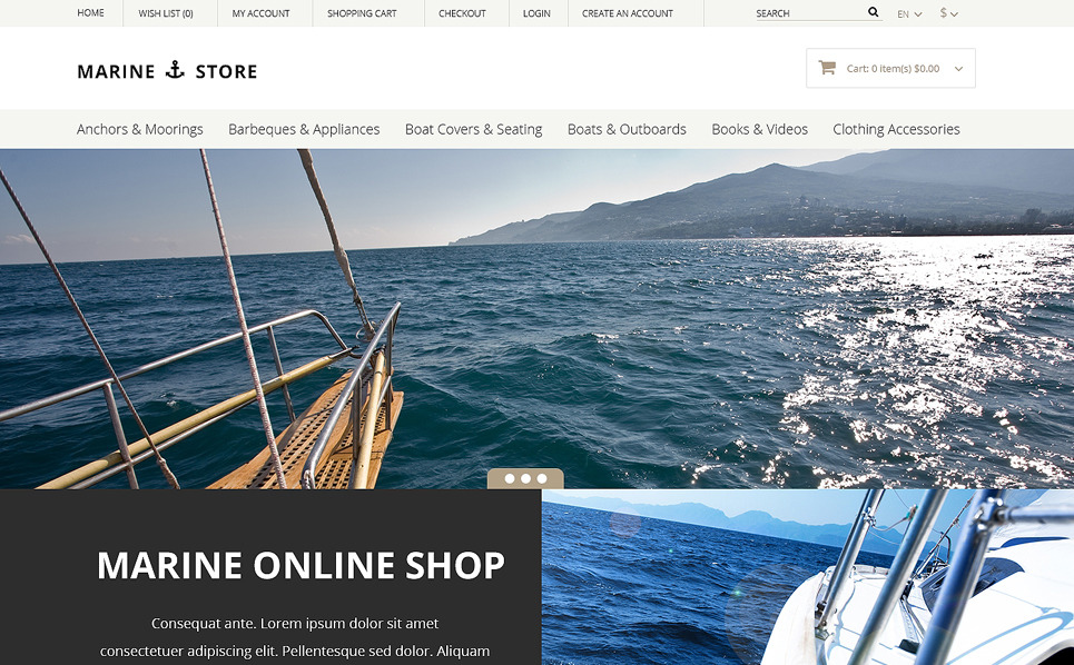 Tema OpenCart Responsive #50676 per Un Sito di Yachting New Screenshots BIG