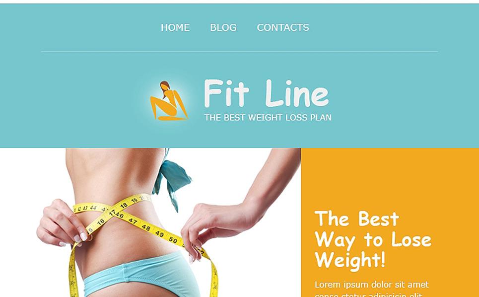 Plantilla De Boletín De Noticias Responsive para Sitio de Fitness New Screenshots BIG