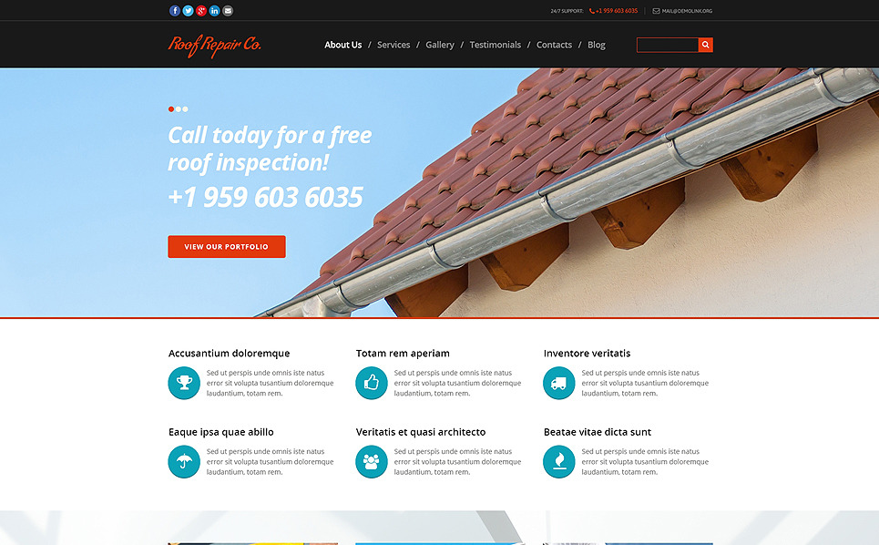 Responsive Joomla Template over Huis Remodeling  New Screenshots BIG
