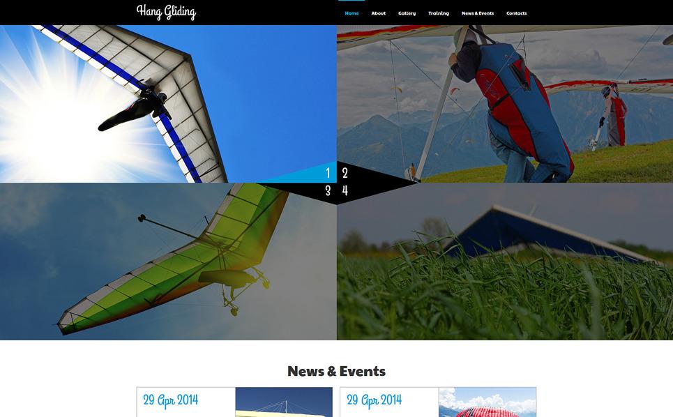 Tema Joomla Responsive #50685 per Un Sito di Parapendio New Screenshots BIG