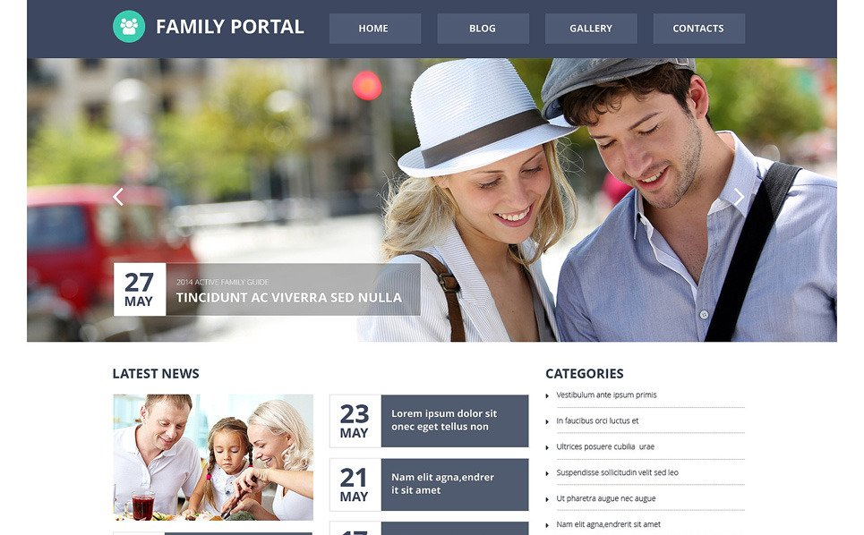 Modèle Web adaptatif  pour site de Centre familial  New Screenshots BIG