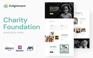 Charity Foundation WordPress Theme - Enlightment WordPress Theme
